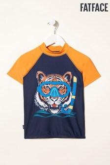 Maillot en lycra à motif tigre FatFace Snorkel bleu