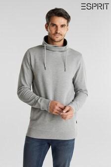 Esprit Grey Long Sleeved Funnel Sweatshirt