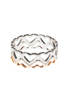 And Rose Gold Plated Heart Band Ring