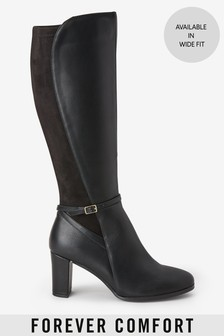 Forever Comfort® Heeled Knee High Boots