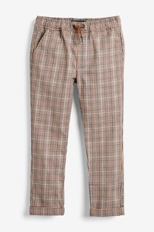 Pantalon chino à carreaux (3-16 ans)