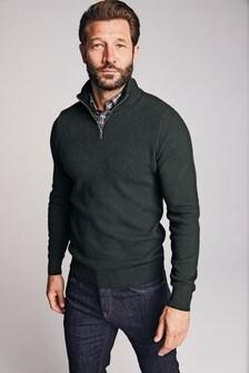 Pullover im Lagenlook mit Hemdeinsatz