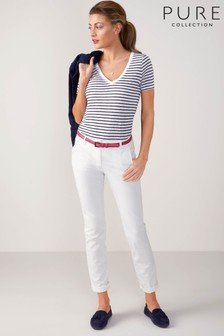 Pure Collection White Washed Cotton Chino