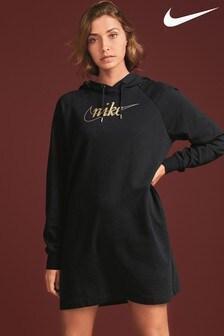 Nike Glitter Longline Hooded Dress