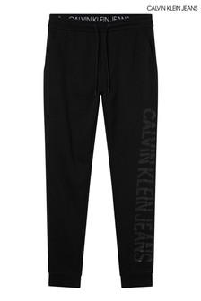 Calvin Klein Jeans Black CK Sliced Joggers