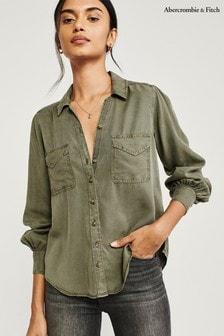 Abercrombie & Fitch Hemd, Olivgrün