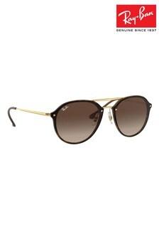 Ray-Ban® Black Blaze Double Ridge Sunglasses