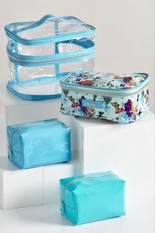 Set of 4 Paradise Print Make-Up Bag