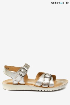 Start-Rite Enchant Silver Leather Sandals