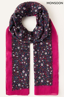 Monsoon Floral Print Lightweight Scarf