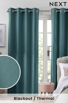 Blickdichte Thermo-Vorhänge aus Baumwolle mit Ösen
