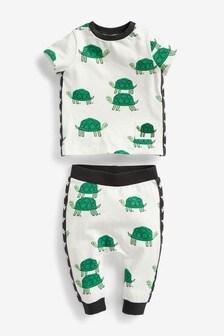 Комплект: футболка с черепахой и спортивные брюки (0 мес. - 2 лет)