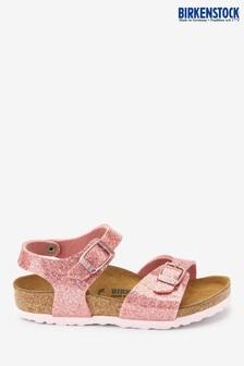 Birkenstock® Pink Glitter Rio Sandals
