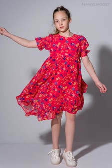 Angel & Rocket Red Floral Butterfly Top