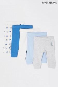 River Island Blue Basic Leggings 5 Pack