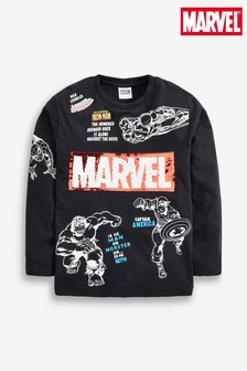 Long Sleeve Marvel® Sequin Change Top (3-14yrs)