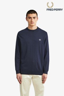 Fred Perry Classic Cotton Crew Neck Jumper