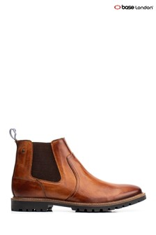 Base London® Tan Wilkes Pull-On Chelsea Boots