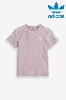 Svetlofialové tričko adidas Originals s logom