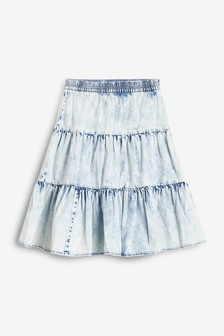 Acid Wash Midi Skirt (3-16yrs)