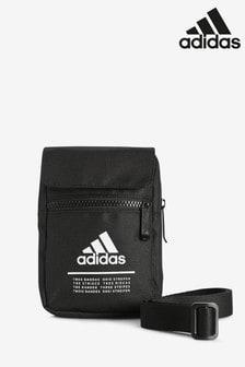 adidas黑色小型收納包