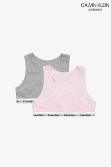 Два розовых бюстгальтера-бралетт Calvin Klein