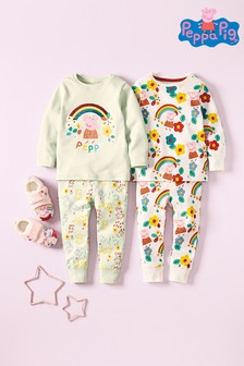 2 Pack Peppa Pig™ Rainbow Sequin Snuggle Pyjamas (9mths-6yrs)