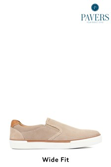 Pavers Yellow Sand Leather Men's Slip-On Trainers