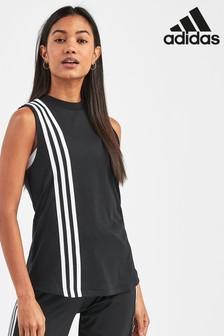 adidas Must Have Black 3 Stripe Tank