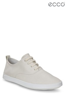 ECCO® White Lace-Up Shoe