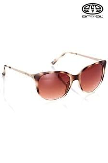Animal Radiance II Übergroße Sonnenbrille, Braun