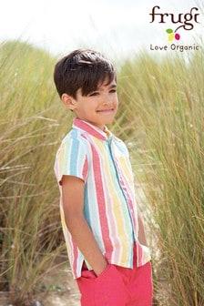 Bawełniana koszula Frugi z krótkim rękawem - Tęczowa