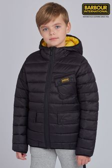 Barbour® International男童Ouston菱格外套