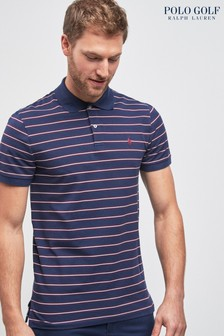 Polo Golf by Ralph Lauren Polo-Shirt, Marineblau/Weinrot