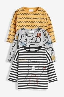 Набор из 3 футболок (с изображением медведей/др.) (0 мес. - 2 лет)