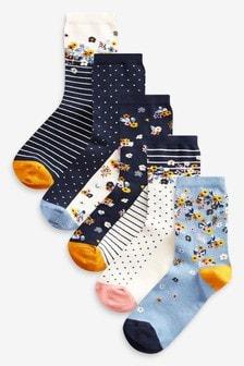Набор носков с цветочным рисунком (5 пар)
