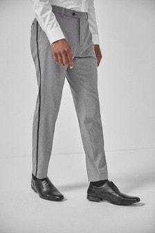 Textured Tuxedo Suit: Trousers