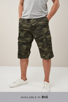 Belted Longer Cargo Shorts
