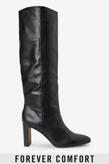 Forever Comfort® Feature Heel Knee High Boots