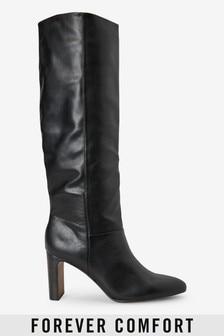Forever Comfort® Har heel knä höga stövlar