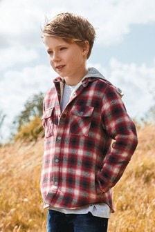 Veste à carreaux (3-16 ans)