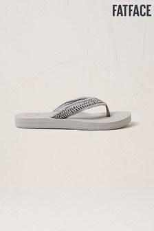 FatFace Grey Pentle Flip Flops