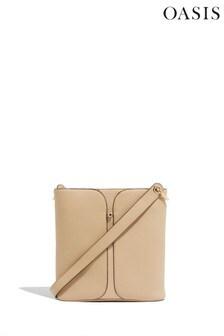 Oasis Nude Stud Cross Body Bag