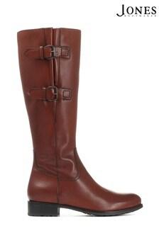 Коричневые кожаные женские сапоги Jones Bootmaker