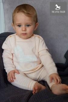 סוודר סרוג ורוד לתינוקות של The Little Tailor