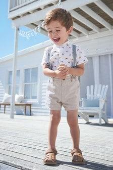 鈕釦領襯衫和短套裝 (3個月至7歲)