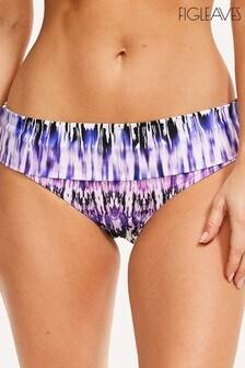 Figleaves Lima Bikini-Slip mit Umschlagbund, Lila