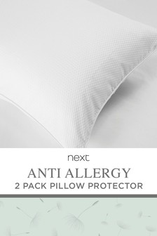 Set of 2 Anti Allergy And Anti Bacterial Pillow Protector
