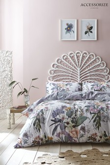 Accessorize Kensington Floral Cotton Duvet Cover And Pillowcase Set