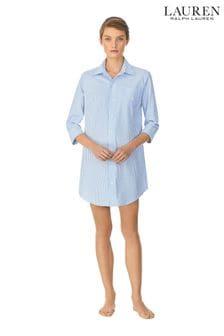 Синий пижамный топ в полоску Lauren Ralph Lauren®
